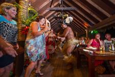 Local dancers showing their skills Te Vara Nui Village