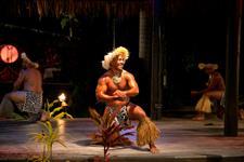 Handsom local dancer Te Vara Nui Village