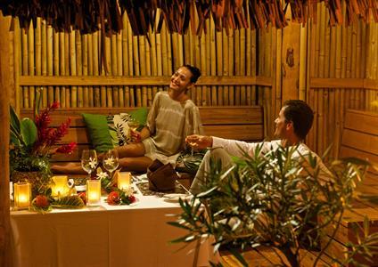 Bora Bora Dining - Tahiti Pearl Beach Resort - Dining garden villa (1) Bora Bora Pearl Beach