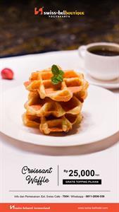 Croissant Waffle Swiss-Belboutique Yogyakarta