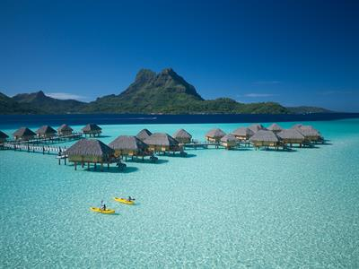 Aerial View - Bora Bora Water Activities - Bora Bora Pearl Beach Resort & Spa - Kayaking