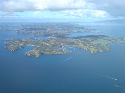 Waiheke Island Seen From Above West