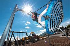 Adventure Playground, Swings. Lake Taupo Holiday Resort