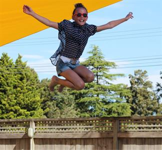 Hour Of Fun For The Kids On The Jumping Pillows Lake Taupo Holiday Resort