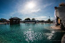 View of Swim Up Bar & Underwater Cave Lake Taupo Holiday Resort