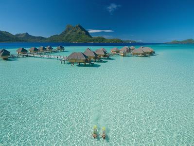 Aerial View - Bora Bora Water Activities - Bora Bora Pearl Beach Resort & Spa - Snorkeling - lagoon Bora Bora Pearl Beach Resort & Spa