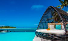 Daybed by the pool Crystal Blue Lagoon Villas