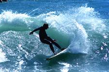 HWT35_Raglan surfer Raglan Kopua Holiday Park