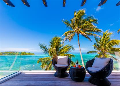 Out on the balcony - master bedrm..Beachfront Crystal Blue Lagoon Villas