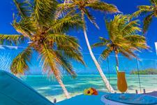Relax on the balcony - Beachfront villa Crystal Blue Lagoon Villas