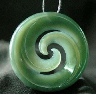 NZ Inanga Jade Spiral Ian Boustridge - Jade Sculptor