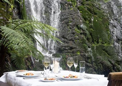 Bridal Veil Dining under The Waterfall