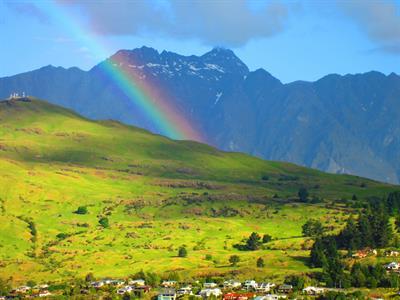Spring rainbow from VdL Villa del Lago