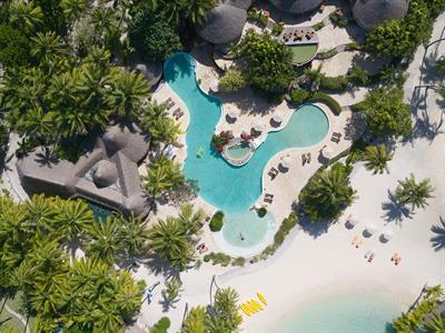 Bora Bora From The Air - Tahiti Pearl Beach Resort Bora Bora Pearl Beach