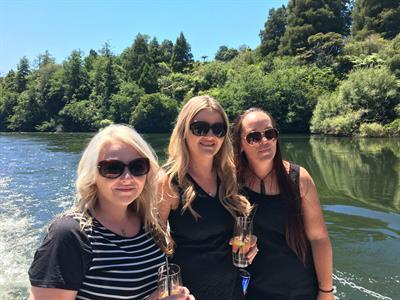 Enjoying the sun Waikato River Explorer