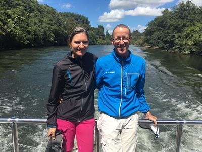 Travellers on the river Waikato River Explorer