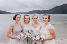 Bridal Party Lakeside Lakes Lodge Wilderness Retreat