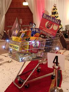 A trolley full of Christmas goodie for Foodstuffs