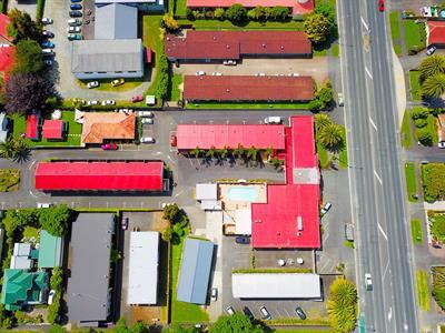 Aerial View Aaron Court Motel Hamilton