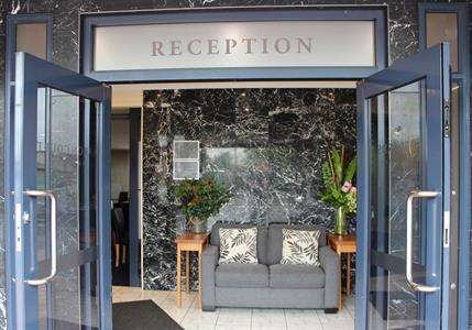 Reception entrance Aaron Court Motel Hamilton